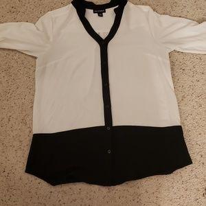 I.N. Studio black and white blouse, M.